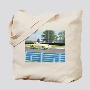 A British Racer At Speed Tote Bag