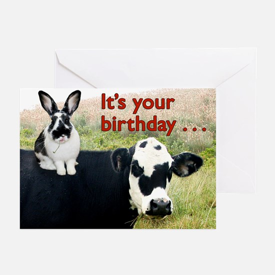 Bunny & Cow Greeting Cards (Pk of 10)