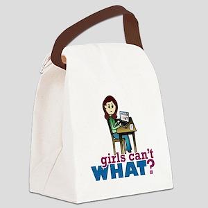 Computer Geek - Light Canvas Lunch Bag