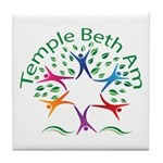 Temple Beth Am Religious School Logo Tile Coaster