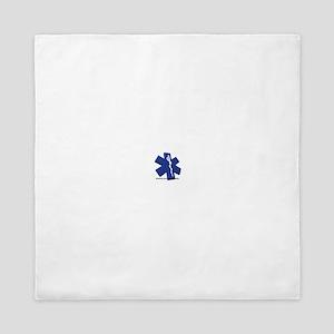 EMT/Paramedic Logo Star of Life Queen Duvet