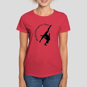 My Granddaughter Flips! Women's Dark T-Shirt