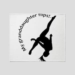 My Granddaughter Flips! Throw Blanket