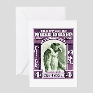 1939 North Borneo Proboscis Monkey Postage Stamp G