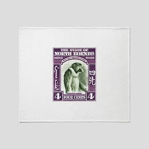 1939 North Borneo Proboscis Monkey Postage Stamp