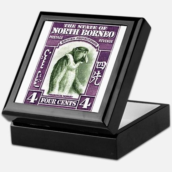 1939 North Borneo Proboscis Monkey Postage Stamp K