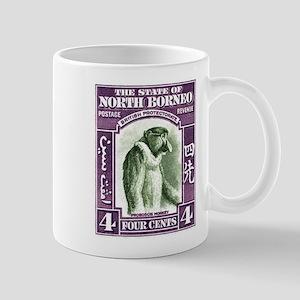 1939 North Borneo Proboscis Monkey Postage Stamp M