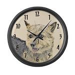 Norwich Terrier Large Wall Clock