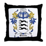 Biscoe Coat of Arms Throw Pillow