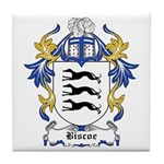 Biscoe Coat of Arms Tile Coaster