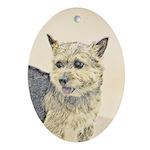 Norwich Terrier Oval Ornament