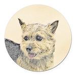 Norwich Terrier Round Car Magnet