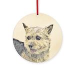 Norwich Terrier Round Ornament