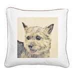 Norwich Terrier Square Canvas Pillow