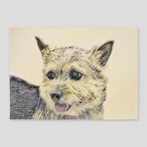 Norwich Terrier 5'x7'Area Rug