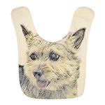 Norwich Terrier Polyester Baby Bib