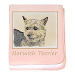 Norwich Terrier baby blanket
