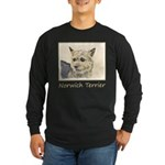 Norwich Terrier Long Sleeve Dark T-Shirt