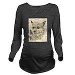 Norwich Terrier Long Sleeve Maternity T-Shirt