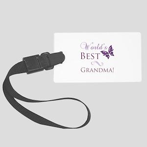 World's Best Grandma Large Luggage Tag