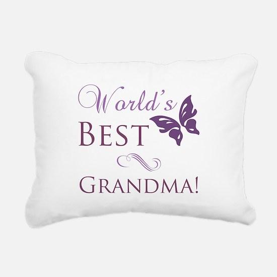 World's Best Grandma Rectangular Canvas Pillow