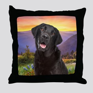 Labrador Meadow Throw Pillow