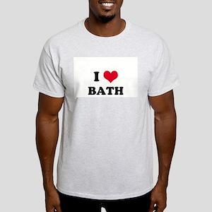 I HEART BATH  Ash Grey T-Shirt