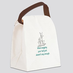 Tail Wag Red Rocket Canvas Lunch Bag