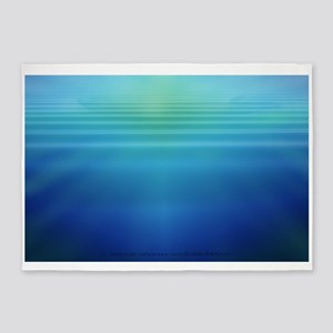 Underwater Light Shafts- 5'x7'Area Rug