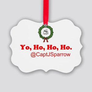 Yo, Ho, Ho, Ho Picture Ornament
