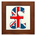 Union Jack Pound Framed Tile