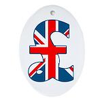 Union Jack Pound Oval Ornament