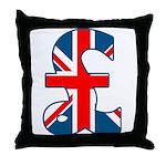 Union Jack Pound Throw Pillow