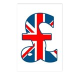 Union Jack Pound Postcards (Package of 8)