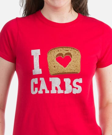 I Love Carbs! (Vintage) Women's Dark T-Shirt