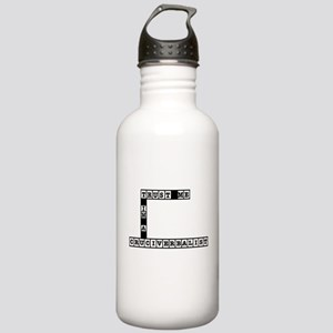 Trust Me Im a Cruciverbalist Stainless Water Bottl
