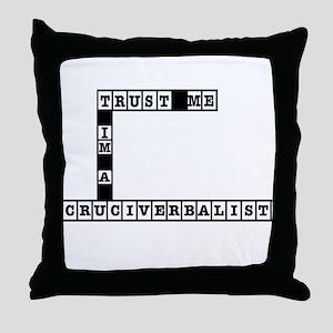 Trust Me Im a Cruciverbalist Throw Pillow
