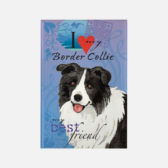 Border Collie Rectangle Magnet