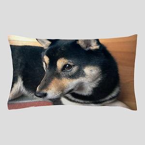 shiba inu black and tan Pillow Case