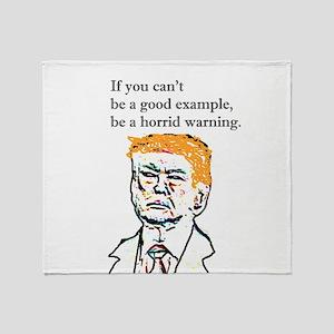 Horrid Warning Trump Throw Blanket
