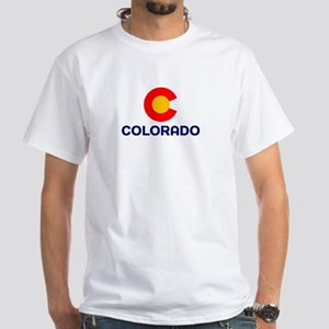 CO - Colorado White T-Shirt