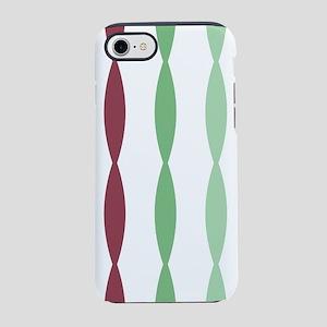 Colorful striped design green iPhone 7 Tough Case