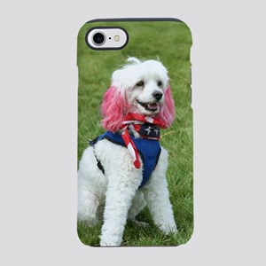 patriotic poodle iPhone 7 Tough Case