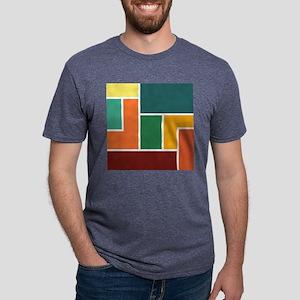 Colorful rectangle blocks a Mens Tri-blend T-Shirt