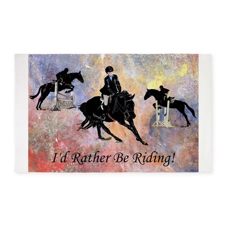Id Rather Be Riding! Horse 3'x5' Area Rug