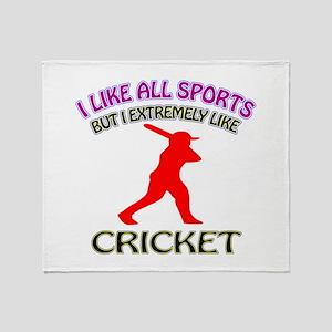 Cricket Design Throw Blanket