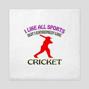 Cricket Design Queen Duvet