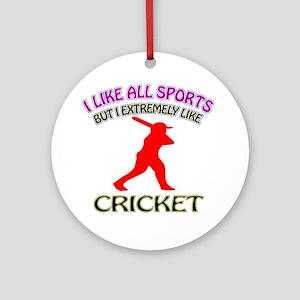 Cricket Design Ornament (Round)