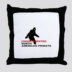 Undocumented North American Primate Throw Pillow