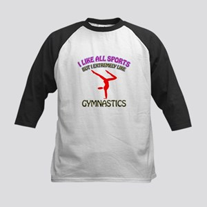 Gymnastics Design Kids Baseball Jersey